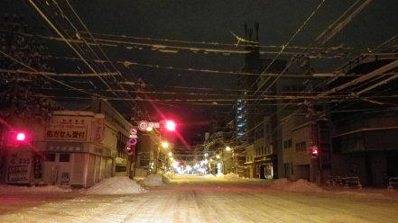 冬の札幌市内