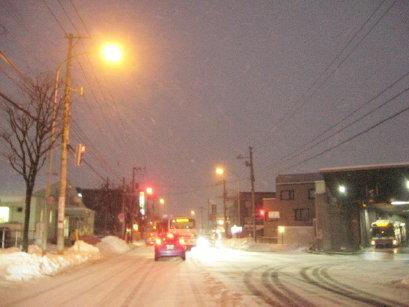 雪の日の福住バスターミナル付近