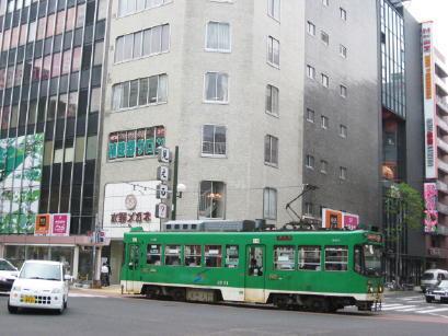 駅前通を行く札幌市電