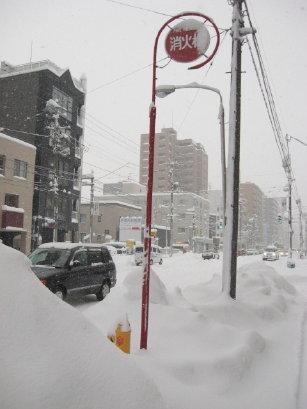 大雪の札幌 消火栓
