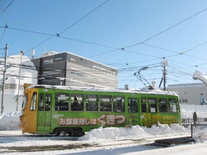 冬の札幌市電