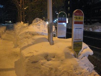 中島公園入口バス停