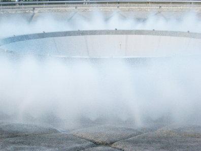 モエレ沼公園の噴水