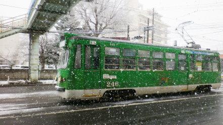 降雪時の札幌市電