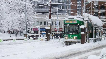 11月の大雪と札幌市電