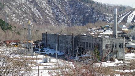 旧北炭清水沢火力発電所跡