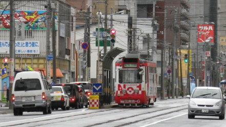 札幌市電 ラッピング車両