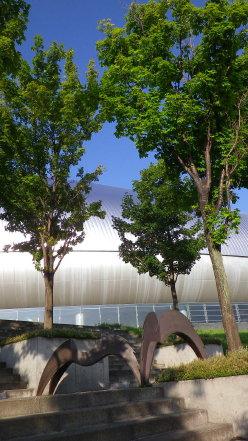 札幌ドームのオブジェ