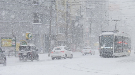 大雪と札幌市電