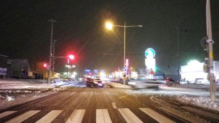 雪の日の国道12号線