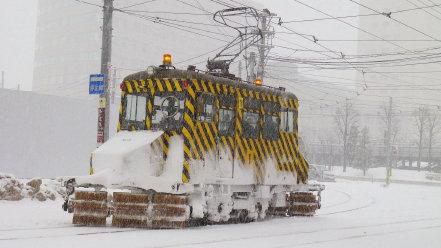 ササラ電車 雪1