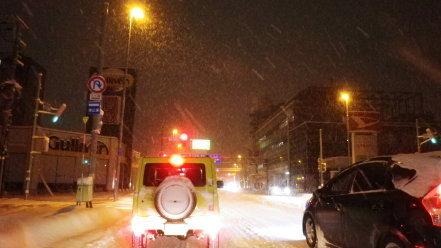 雪の日の札幌
