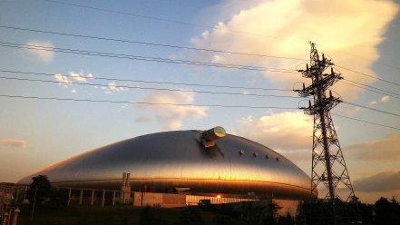 夕方の札幌ドーム