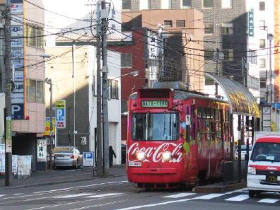 札幌市電 コカコーラ号