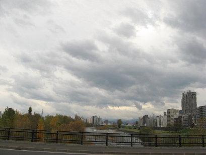 豊平川南大橋からの眺め