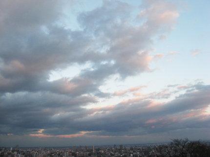 夕方の旭山記念公園