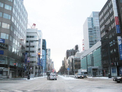 冬の札幌駅前通