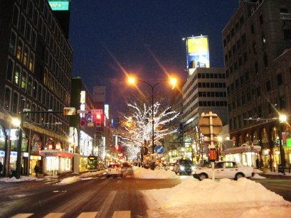 札幌駅前通のイルミネーション