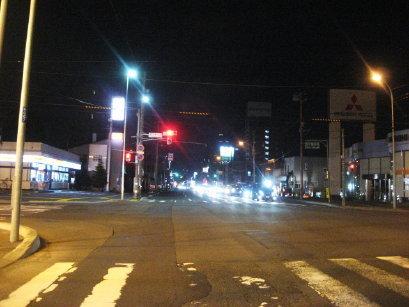 夜の国道36号線