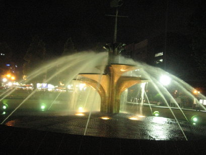 大通公園の噴水