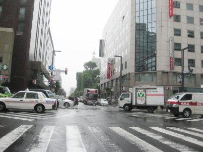 雨の日の札幌