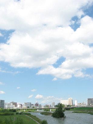 豊平川 南大橋からの眺め