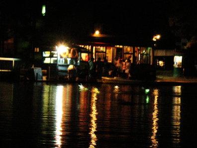 夜の中島公園ボート乗り場