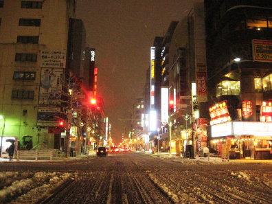 初冬の札幌市街