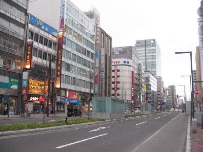 札幌駅前通の街並み