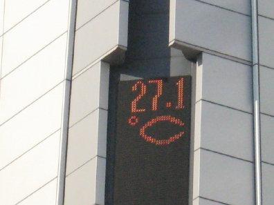 JRタワーの温度計