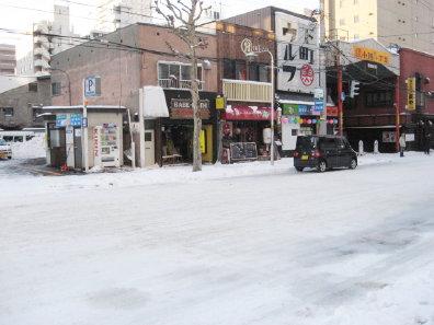 冬の札幌の街並み