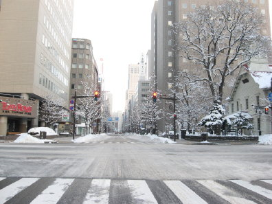 冬の札幌市街
